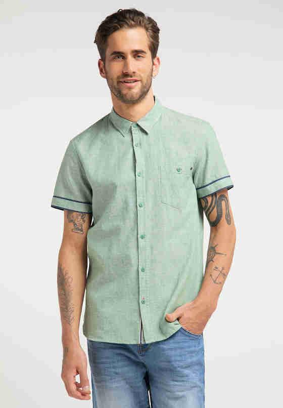 Hemd Chris Linen Shirt, Grün, model