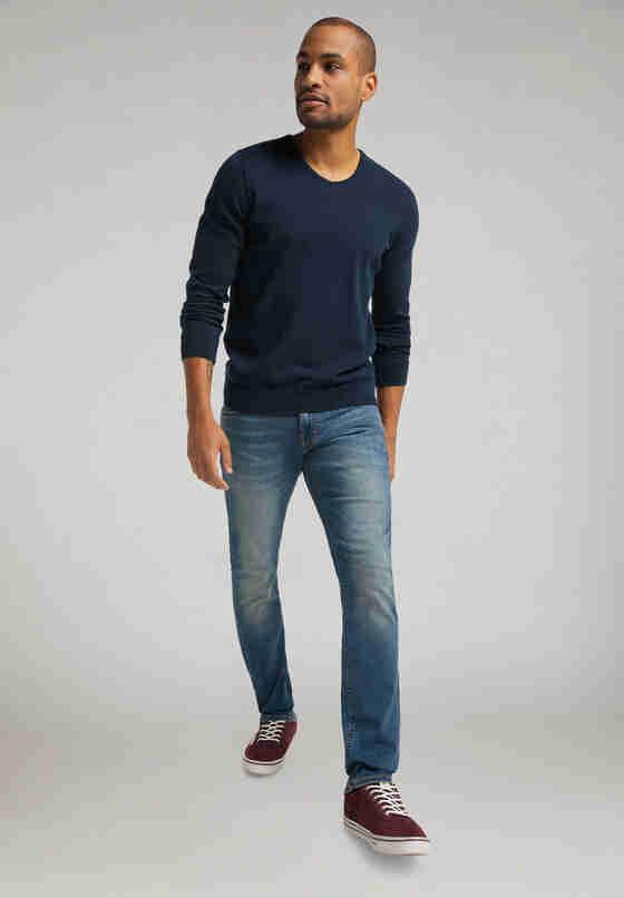 Sweater Basic V-Neck Jumper, Blau, model