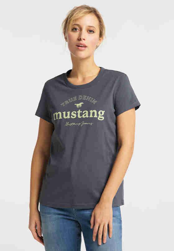 T-Shirt Print-Shirt, Grau, model