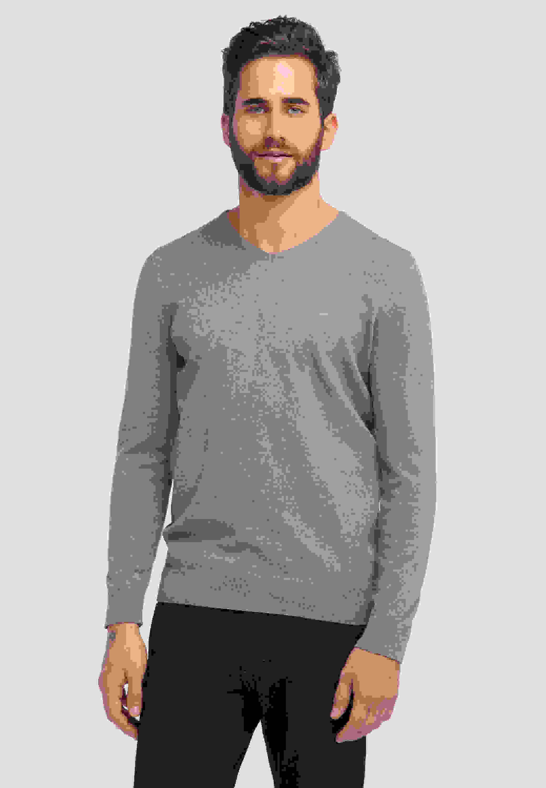 Sweater Basic V-Neck Jumper