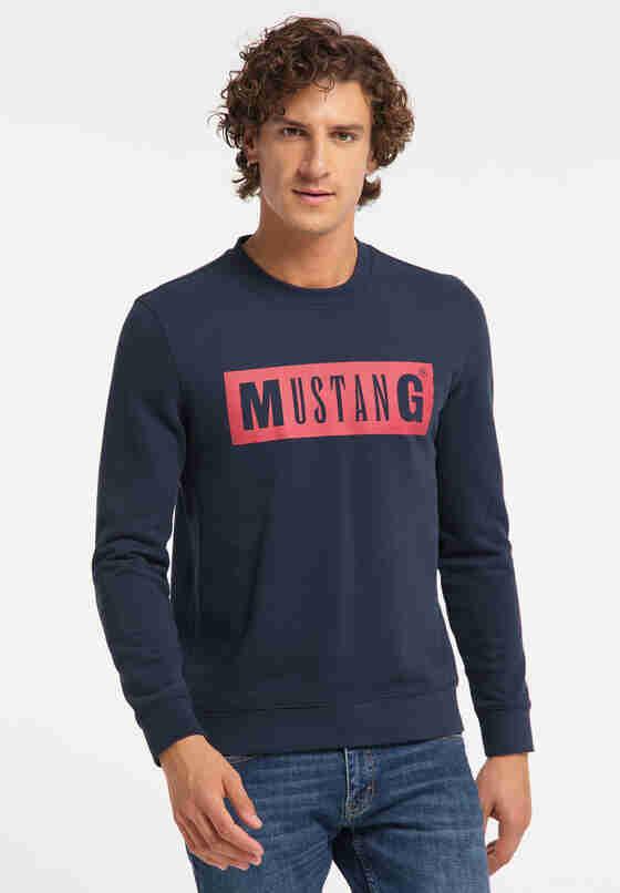 Sweatshirt Logo-Sweater, Blau, model