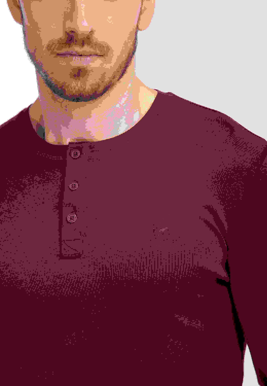T-Shirt Langarm-Henley