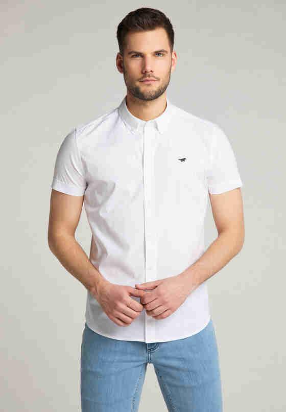 Hemd Kurzarmhemd, Weiß, model