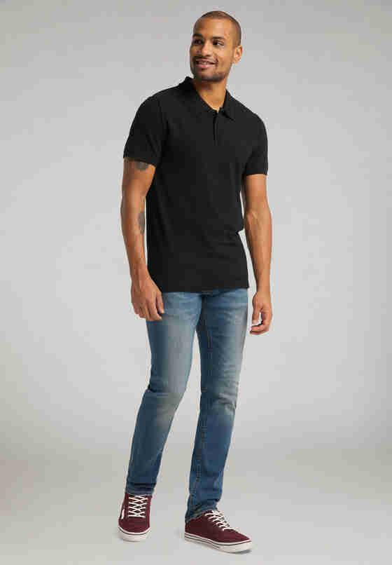 T-Shirt Polo, Schwarz, model