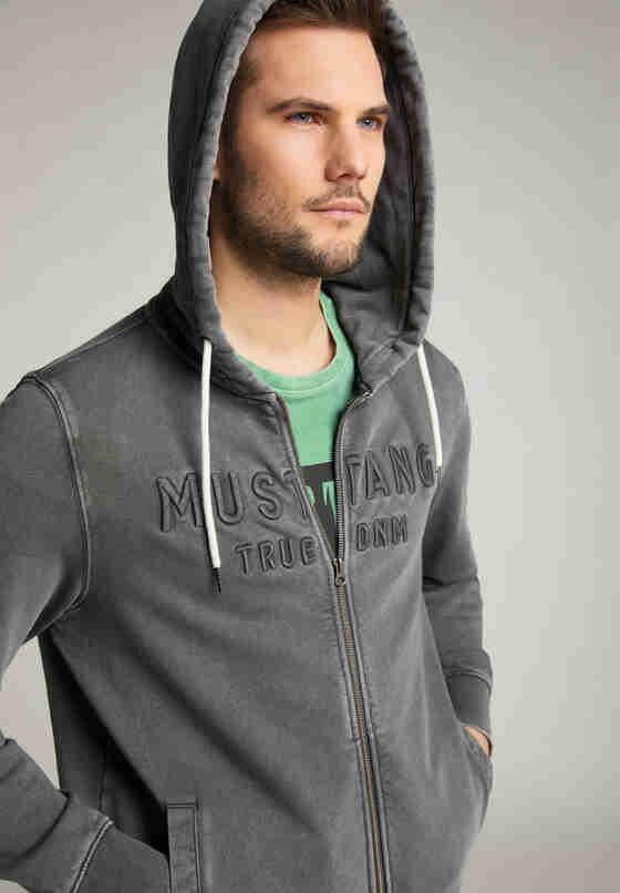 Sweatshirt Sweatjacke, Grau, model