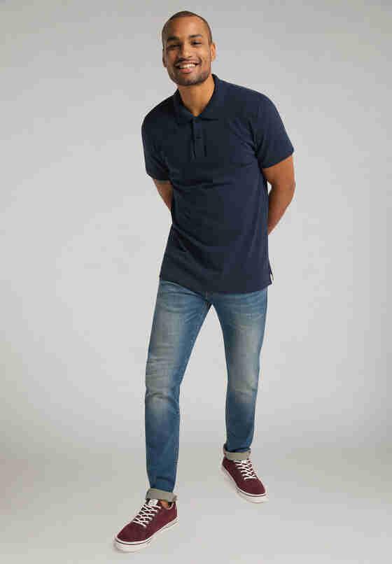 T-Shirt Polo, Blau, model