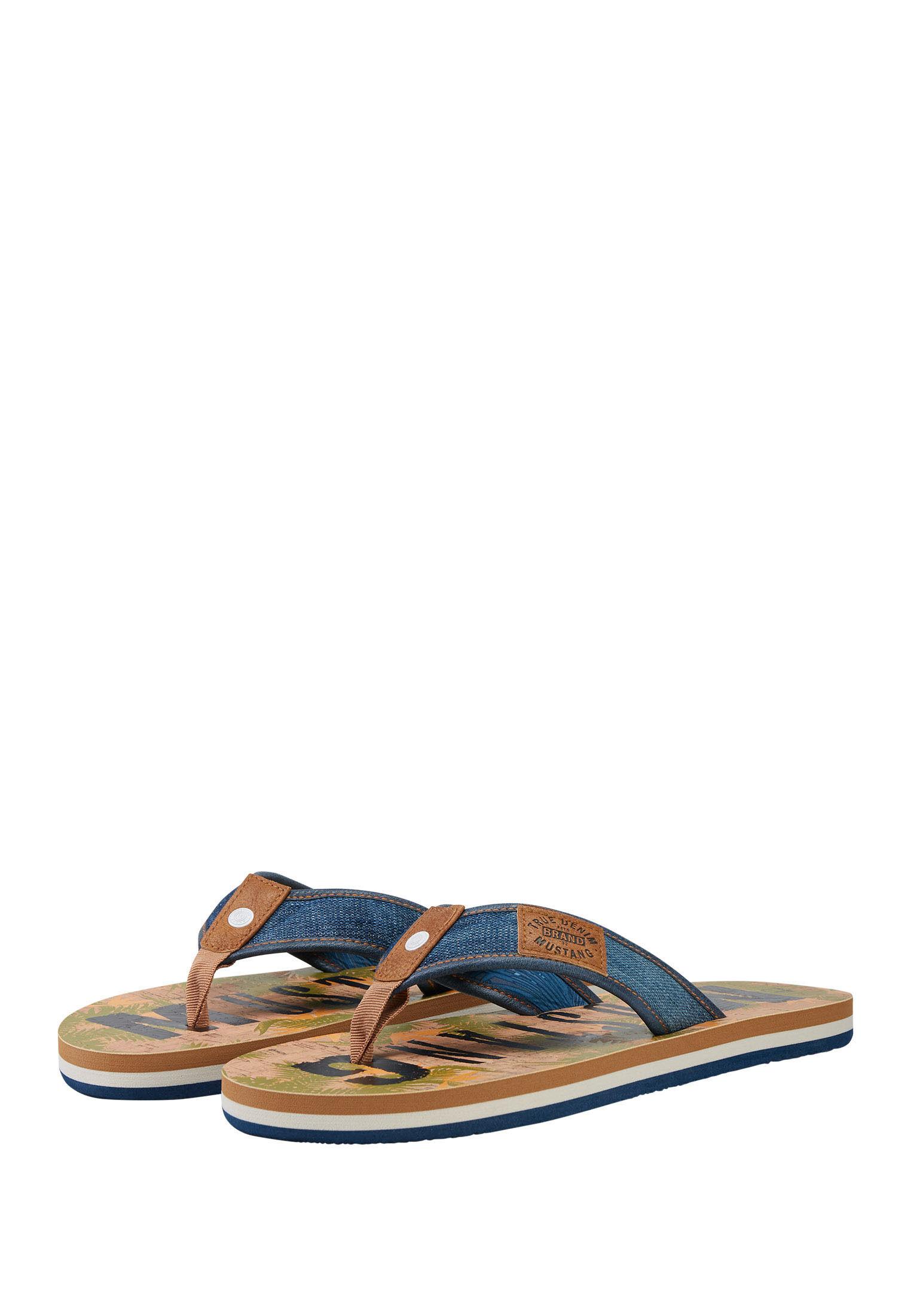 Sandalen mit Palmweder Muster