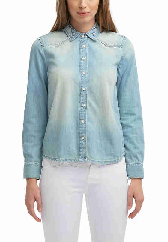 Bluse Denim Shirt, Blau 234, model