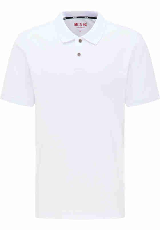 T-Shirt Poloshirt, Weiß, bueste