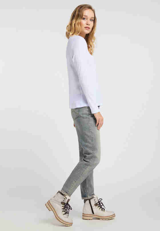 T-Shirt Basic-Longsleeve, Weiß, model