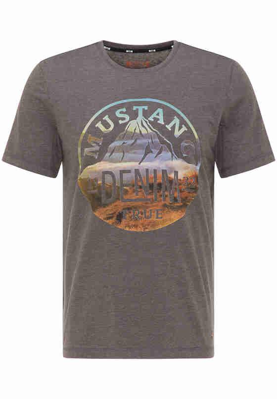 T-Shirt Print-Shirt, Grau, bueste