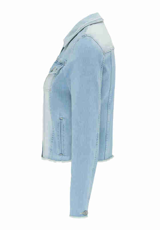 Jacke Open Hem Denim Jacket, Blau 237, bueste