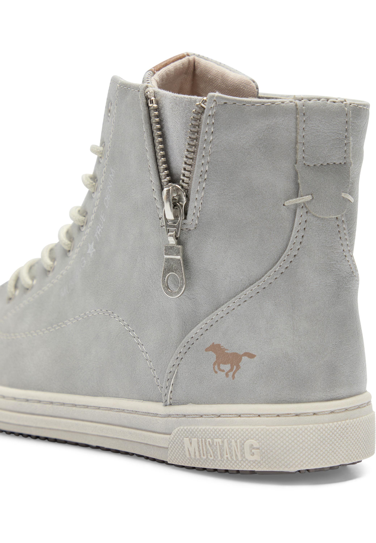 Mustang Sneaker high silbergrau