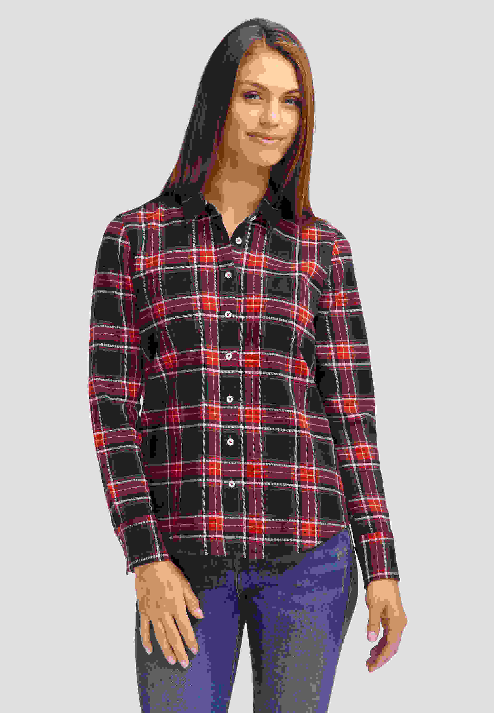 Bluse Flanell-Bluse