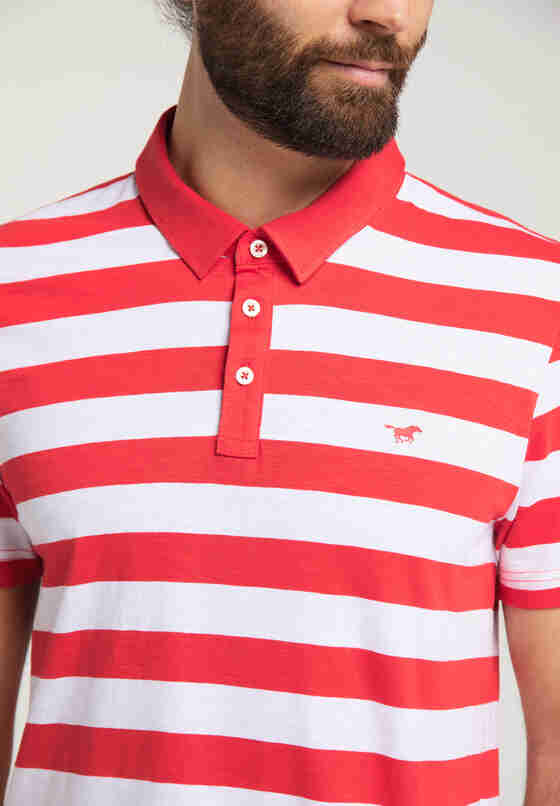 T-Shirt Poloshirt, Rot, model