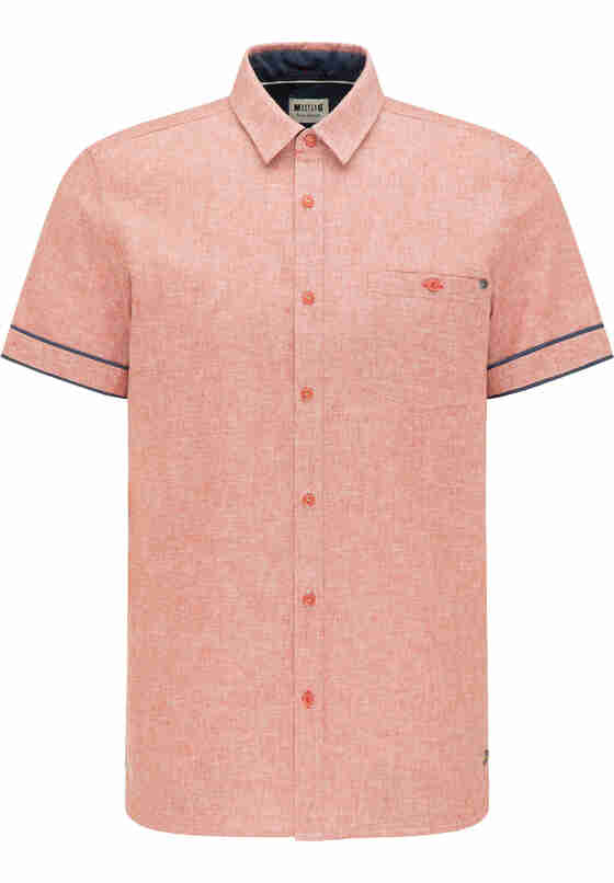 Hemd Chris Linen Shirt, Rot, bueste