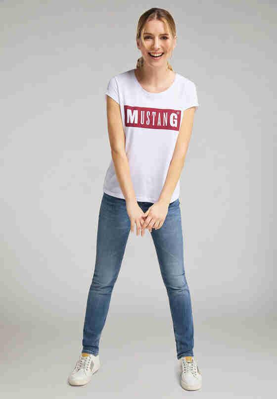 T-Shirt Alina C Logo Tee, Weiß, model