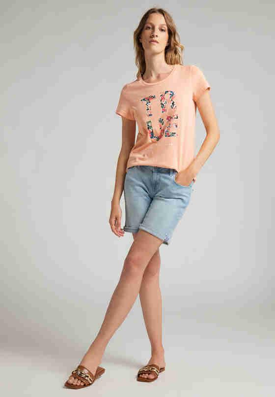 T-Shirt Print-Shirt, Rosa, model