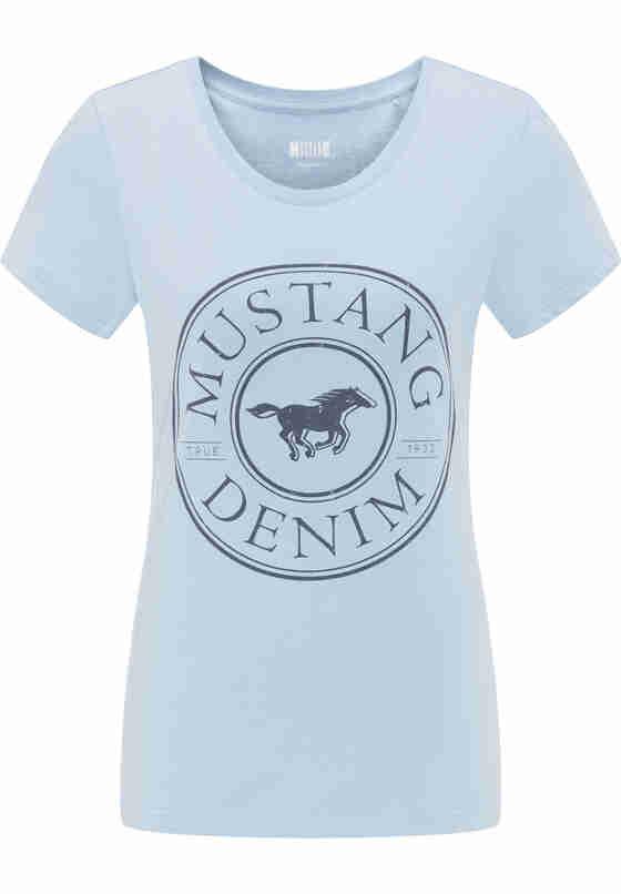 T-Shirt Label-Shirt, Blau, bueste