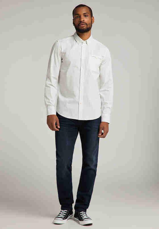 Hemd Langarmhemd, Weiß, model