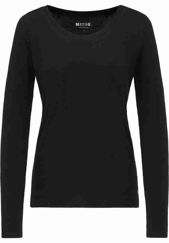 T-Shirt Basic-Longsleeve, Schwarz, bueste