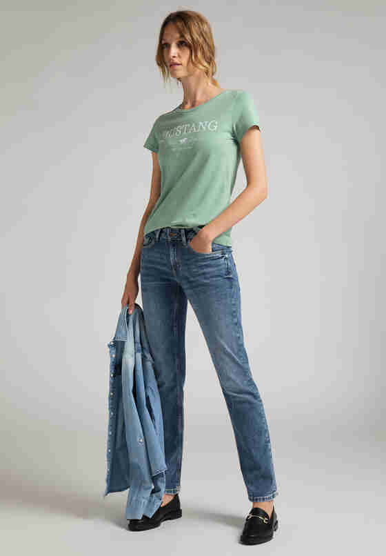 T-Shirt Print-Shirt, Grün, model