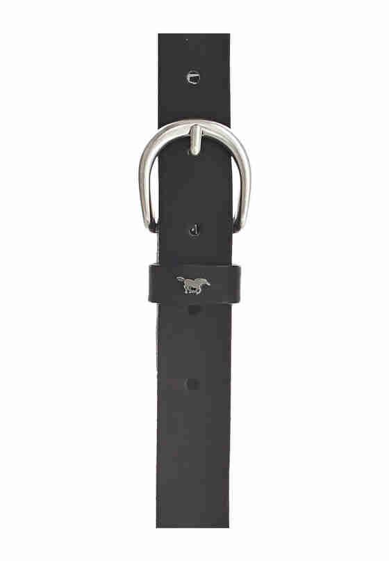 Accessoire Echtledergürtel, Schwarz, bueste