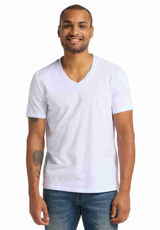 T-Shirt Shirt-Doppelpack, Weiß, model
