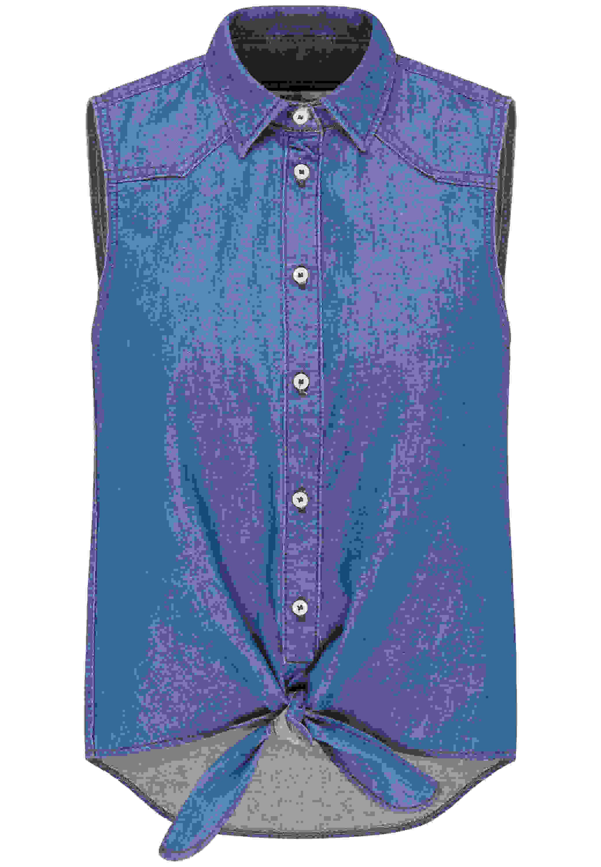 Hemd Tie Denim Shirt