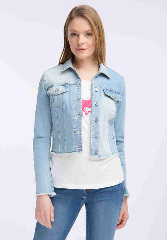 Jacke Open Hem Denim Jacket, Blau 237, model