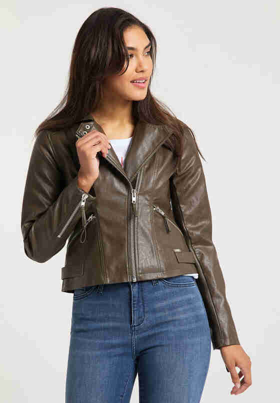 Jacke womens biker jacket veg, Grün, model