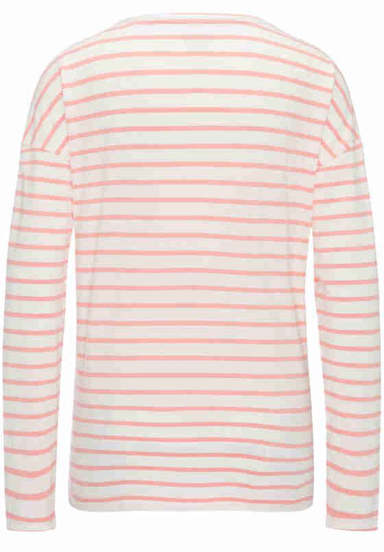 T-Shirt Streifen-Langarmshirt, Rosa, bueste