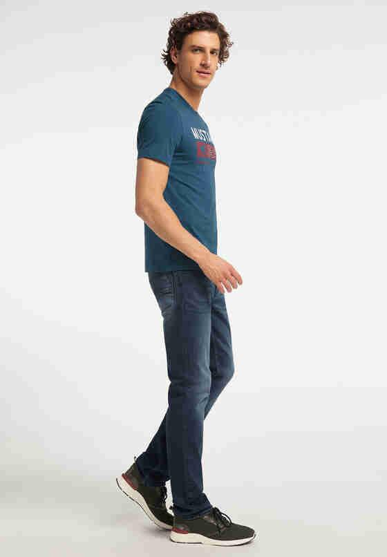T-Shirt Print-Shirt, Blau, model