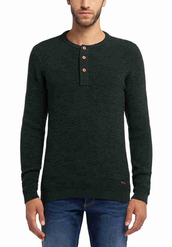 Sweater Emil C Henley, Grün, model