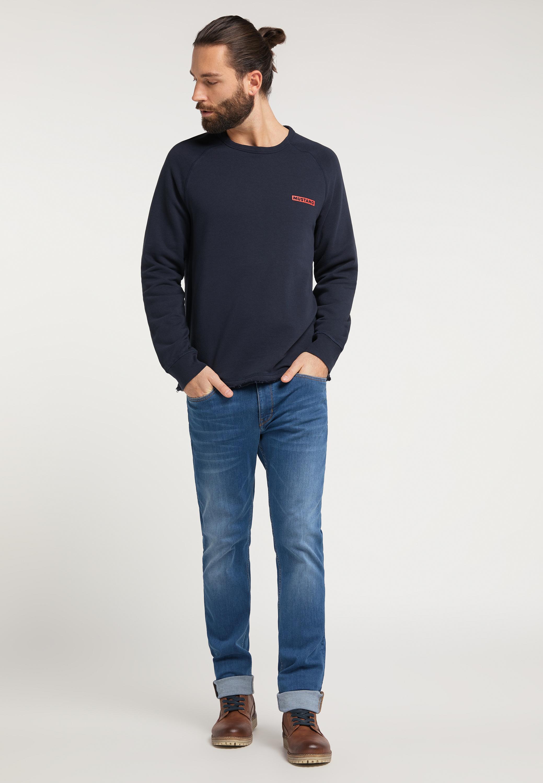 Sweater mit dezentem Logoprint