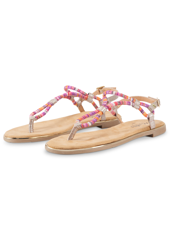 MUSTANG SHOES Damen Zehentrenner Sandale Flip Flops Pink