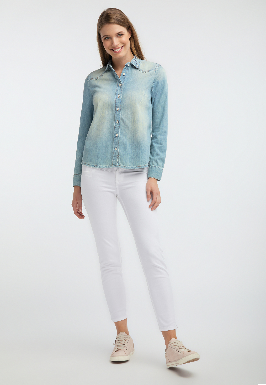 Denim Shirt im Strong Bleached Look