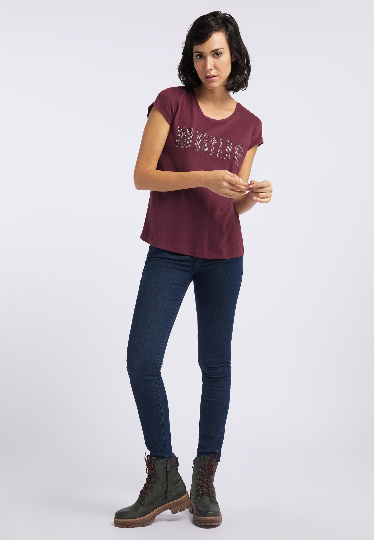 Shirt mit trendigem Label Schriftzug