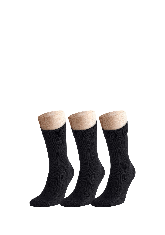 3x Socken aus weichem Materialmix