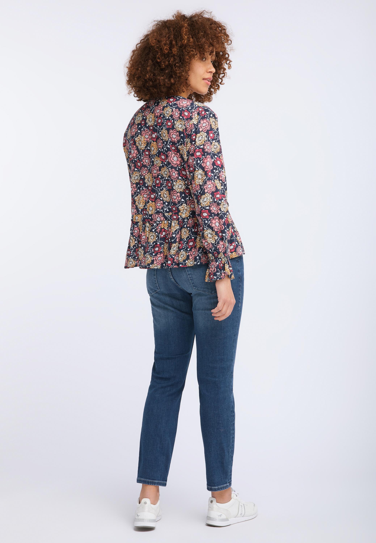 Verspielte Bluse mit Blütenmuster