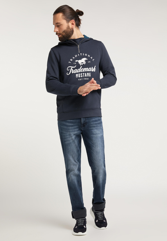Sweatshirt mit Label Print