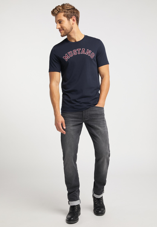 T Shirt mit zweifarbigem Logo Print