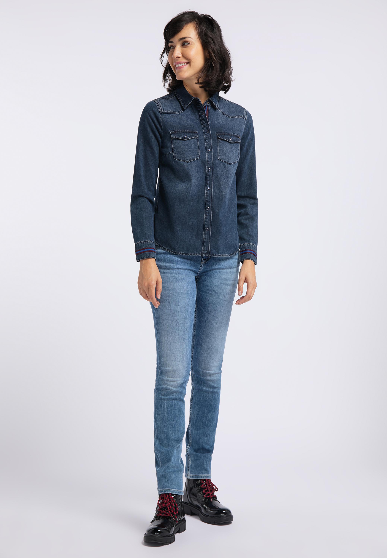 Jeanshemd aus reiner Baumwolle