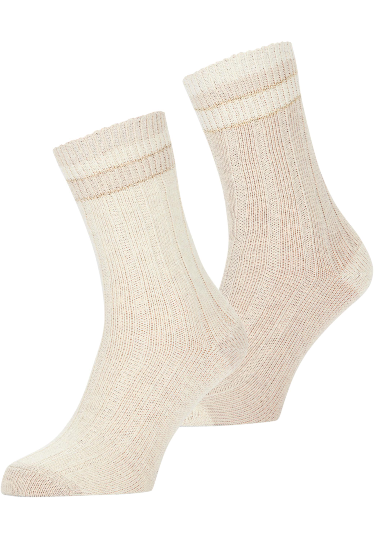 Casual-Socken mit Metallfäden