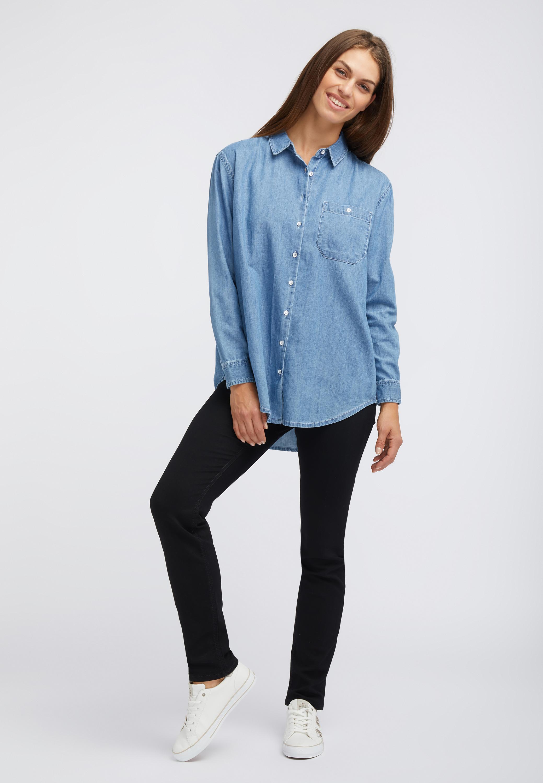 Oversized Bluse aus Denim